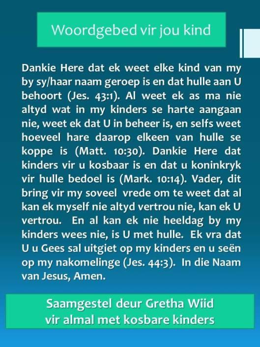 kinders gebed