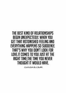love comes to you unexpectedly