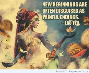 new beginning painful ending