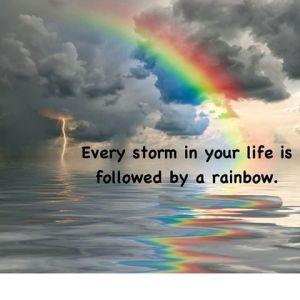 storm followed by a rainbow....