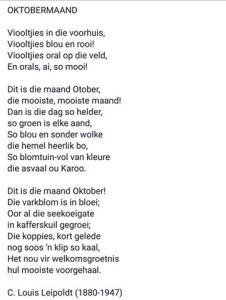 oktobermaand-gedig